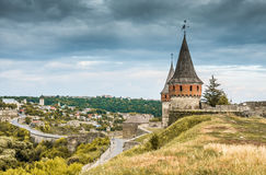 Medieval castle fortress in Kamenetz-Podolsk Royalty Free Stock Photo