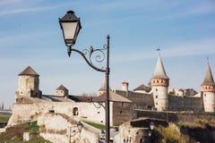 Medieval castle fortress Kamenetz-Podolsk Ukraine Royalty Free Stock Image