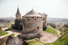 Medieval castle fortress Kamenetz-Podolsk Ukraine Royalty Free Stock Photos