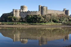 Medieval castle fortress - Pembroke Royalty Free Stock Images