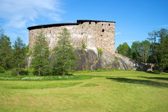 Medieval castle-fortress of Raseborg close up. Snapertuna, Finland Royalty Free Stock Images