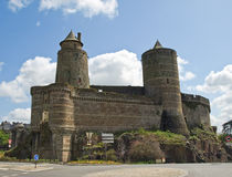 Medieval castle Fougeres. In France Royalty Free Stock Photos