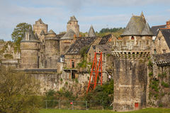 Medieval castle of Fougeres Stock Photo