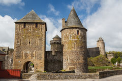 Medieval castle of Fougeres Royalty Free Stock Image