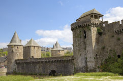 Medieval castle. Fougeres, France Stock Image