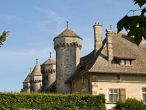Medieval castle in France. Medieval castle in Thonon, France Stock Photos