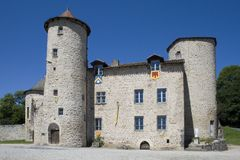 Medieval castle in France Royalty Free Stock Image