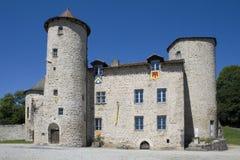 Medieval castle in France. Medieval castle in Laroquebrou, France Royalty Free Stock Image