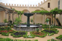 Medieval Castle Garden Royalty Free Stock Photography