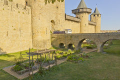 Medieval castle garden Stock Photography