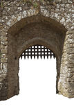 Medieval castle gate, England Royalty Free Stock Photos