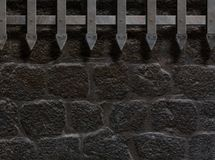 Medieval castle gate or wall background 3d illustration Stock Photo