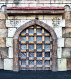 Medieval castle gates Stock Images
