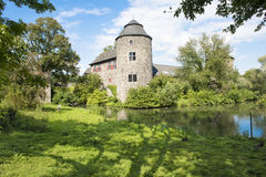 Medieval Castle in Germany. Medieval Castle Haus zum Haus in Ratingen, Germany royalty free stock photography