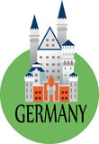 Medieval castle in Germany Royalty Free Stock Photos