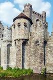 Medieval Castle, Ghent, Belgium Stock Photos