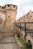 Medieval castle of Gradara Pesaro- Italy Royalty Free Stock Images