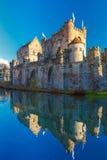 Medieval castle Gravensteen in Gent, Belgium Stock Image