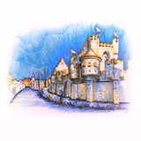 Medieval castle Gravensteen in Gent, Belgium Royalty Free Stock Photo