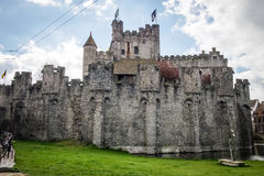 Medieval castle Gravensteen in Ghent Stock Photography