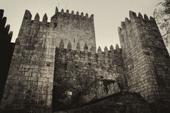 Medieval castle in Guimaraes Stock Photos