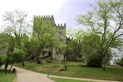 Medieval castle in Guimaraes Stock Photo
