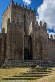 The medieval castle of Guimaraes. stock photos