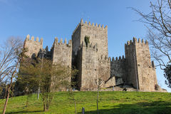 Medieval castle . Guimaraes. Portugal Royalty Free Stock Photos