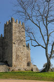 Medieval castle . Guimaraes. Portugal Stock Photos