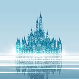 Medieval Castle. Hand drawn vector illustration Stock Images
