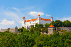 Medieval castle on the hill against the sky, Royalty Free Stock Image