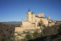 Medieval Castle on Hill Stock Image