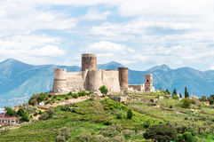 Medieval castle on a hill. Italy Naples Lettere royalty free stock images