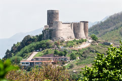 Medieval castle on a hill Royalty Free Stock Photo