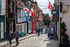 Medieval Castle Hill in Lincoln royalty free stock image