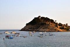 Castle in Tossa de Mar in Costa Brava, Spain Stock Photos
