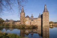 Medieval castle Hoensbroek stock photo