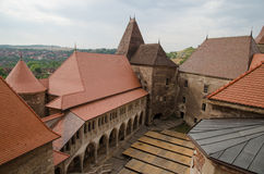 Medieval Castle. Medieval Hunyad Castle ( in present-day Hunedoara, Romania Stock Photos