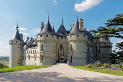 Medieval castle. The imposing fortress Chaumont sur Loire Stock Photo