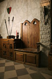 Medieval castle interior Stock Image