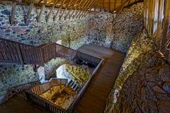 Medieval castle interior Stock Photos