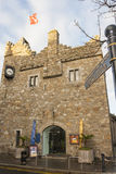 Medieval Castle in Ireland. Old Castle in the small town of Dalkey Royalty Free Stock Images