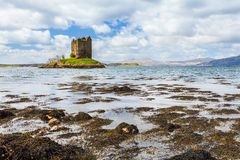 Medieval castle on a island Stock Image