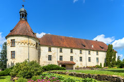 Medieval castle in Jaunpils city, Latvia Royalty Free Stock Photography