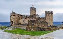 Medieval castle of Javier in Navarra. Spain Royalty Free Stock Image