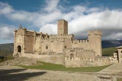 Medieval castle of Javier in Navarra. Spain Royalty Free Stock Photo