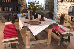 Medieval castle kitchen Royalty Free Stock Photos