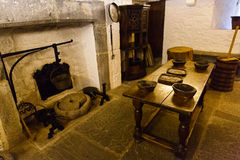 Medieval castle kitchen Stock Photography