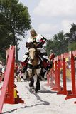 Medieval Castle Knights tournament Royalty Free Stock Photos
