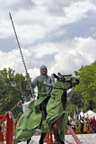 Medieval Castle Knights tournament Stock Photography